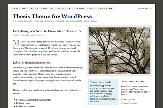 review thesis theme wordpress Notes: looking to buy (or already own) thesis click here to grab these free bonuses thesis banner thesis – an advanced wordpress theme optimized for traffic and design thesis is an advanced wordpress theme developed by diythemes and is one of the more popular and well-received themes.